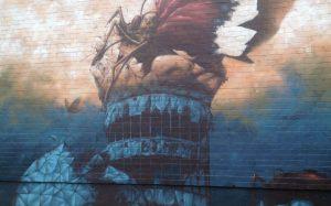 Large Grafitti at Teufelsberg Berlin