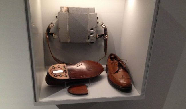 Shoe phone in Berlin Spy Museum
