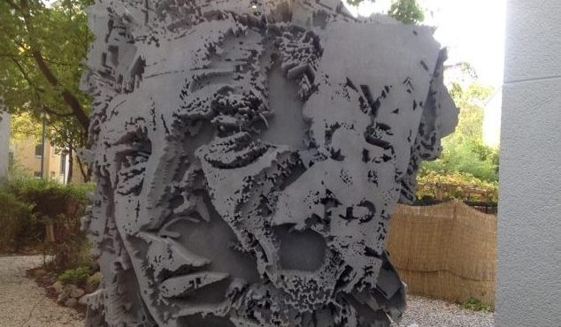 Concrete 3D sculpture by Vhils at Urban Nation Museum Berlin